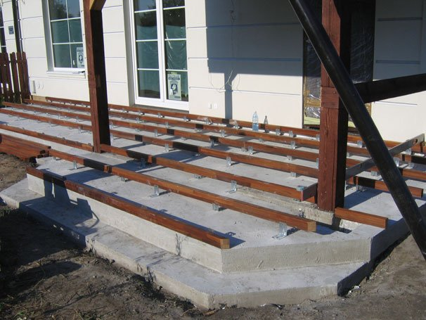 Taras na podłożu betonowym 3