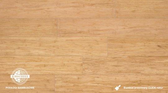 BAMBUS PRASOWANY CLICK NATUR LAKIEROWANY 12 x 125 x 915mm 2