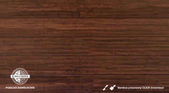 BAMBUS PRASOWANY CLICK BROWNBEAR LAKIEROWANY DŁUTOWANY 14 x 125 x 1830mm 2
