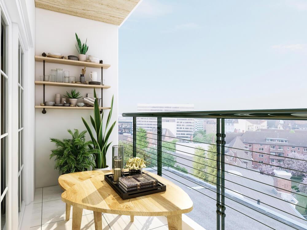 Deski na balkon - deski tarasowe drewniane 1