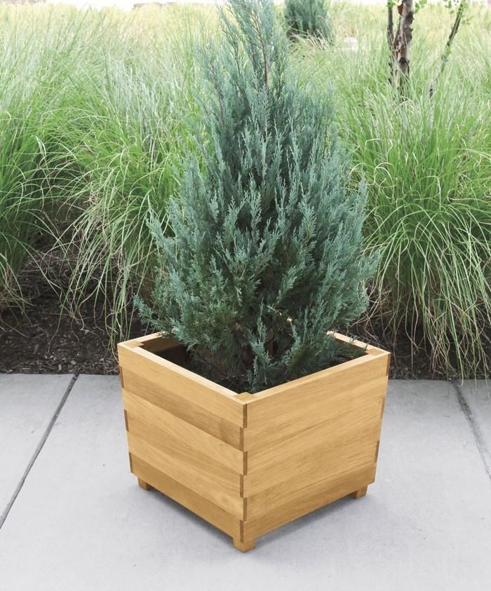 Donice drewniane - doniczki ogrodowe z drewna 1