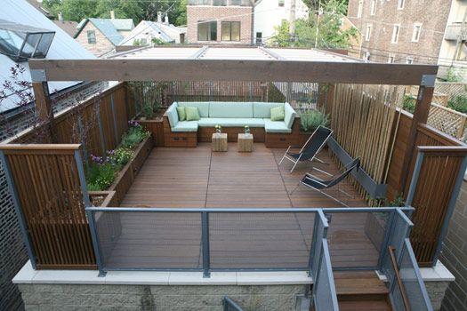 Taras na dachu - nowoczesne tarasy z drewna na dachu 1