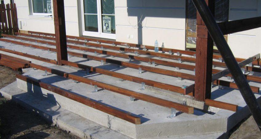 Genialny Taras na podłożu betonowym - płyty betonowe na taras ZK24